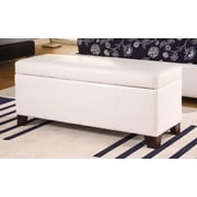 Modus Milano Bedroom Storage Ottoman; White
