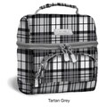 J World Corey Lunch Bag; Tartan Grey