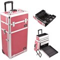 Just Case Trolley Makeup Case; Hot Pink