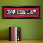 JDS Personalized Gifts Personalized Gift College Campus Framed Memorabilia; Wisconsin