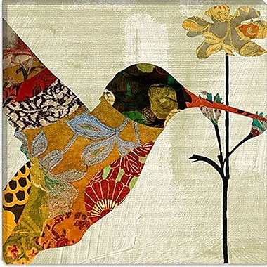 iCanvas Color Bakery Humming Bird Brocade III Graphic Art on Canvas; 37'' H x 37'' W x 1.5'' D