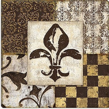 iCanvas 'Fleur de Lis' by Daphne Brissonnet Graphic Art on Canvas; 12'' H x 12'' W x 1.5'' D