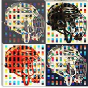 iCanvas Canada Hockey Mask #6 Graphic Art on Canvas; 12'' H x 12'' W x 1.5'' D