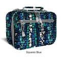 J World Cody Lunch Bag with Shoulder Strap; Squares Blue
