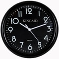 Kincaid Clocks 10'' Always Set Wall Clock; Black