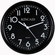 Kincaid Clocks 10'' Always Set Wall Clock; Black