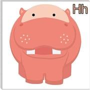 iCanvas Kids Art H is for Hippo Graphic Canvas Wall Art; 37'' H x 37'' W x 0.75'' D