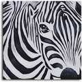 My Art Outlet 'Zebra Perspective' Original Painting on Canvas