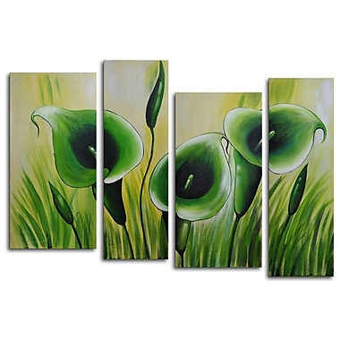 My Art Outlet Memory Roots 4 Piece Original Painting on Canvas Set