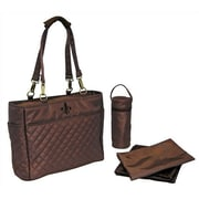 Kalencom N' Orleans Quilted Tote Diaper Bag; Chocolate Brown