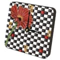 Lexington Studios Gerber Daisy Checkers Tiny Times Desk Clock