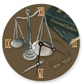 Lexington Studios 10'' Scales of Justice Wall Clock