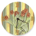Lexington Studios 18'' Tulips Wall Clock