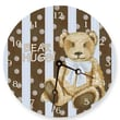 Lexington Studios 10'' Cocoa Cabana Teddy Wall Clock; Blue