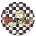 Lexington Studios 10'' Veggies Checker Wall Clock