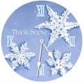 Lexington Studios 10'' Snowflakes Wall Clock
