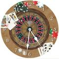 Lexington Studios 18'' Gambler Wall Clock