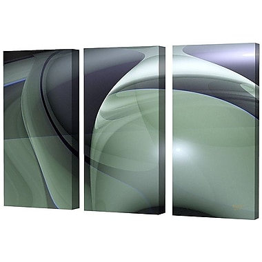 Menaul Fine Art Triptych Limited Edition Graphic Art Set on Wrapped Canvas (Set of 3); 36 x 18
