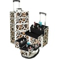 Seya Professional 2-1 Rolling Cosmetic Makeup Train Case