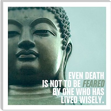 iCanvas Buddha Quote Canvas Wall Art; 12'' H x 12'' W x 0.75'' D