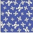 iCanvas ''Skull Pattern Blue'' Canvas Wall Art by Erin Clark; 37'' H x 37'' W x 0.75'' D