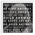 iCanvas Mother Teresa Quote Canvas Wall Art; 18'' H x 18'' W x 1.5'' D