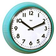 Bai Design 9.8'' School Wall Clock; Turquoise