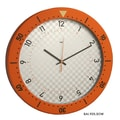 Bai Design 14.5'' Speedmaster Wall Clock; Orange and White