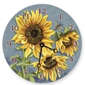 Lexington Studios 10'' Tuscan Sunflowers Wall Clock