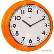Bai Design 12.7'' School Wall Clock; Orange