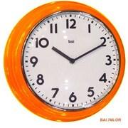 Bai Design 12.7'' School Wall Clock; Orange