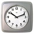 Bai Design Square Retro Wall Clock; Satin Silver