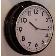 Bai Design 12.7'' School Wall Clock; Black