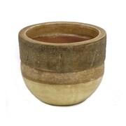 New Rustics Home Sedona Pottery Cylinder ''Wood'' Vase; 6'' H x 7'' W x 7'' D