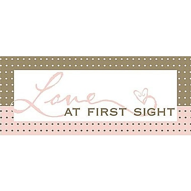 Forest Creations Love At First Sight Kids Textual Art on Canvas; Pink