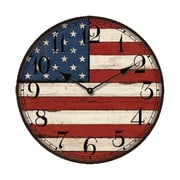 Creative Motion 13.3'' American Flag Wall Clock
