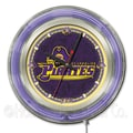 Holland Bar Stool NCAA 15'' Double Neon Ring Logo Wall Clock; East Carolina