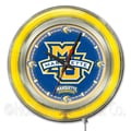 Holland Bar Stool NCAA 15'' Double Neon Ring Logo Wall Clock; Marquette