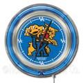 Holland Bar Stool NCAA 15'' Double Neon Ring Logo Wall Clock; Kentucky ''Wildcat''