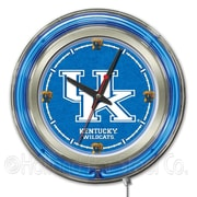 Holland Bar Stool NCAA 15'' Double Neon Ring Logo Wall Clock; Kentucky ''UK''