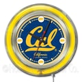 Holland Bar Stool NCAA 15'' Double Neon Ring Logo Wall Clock; California