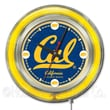 Holland Bar Stool NCAA 15'' Double Neon Ring Logo Wall Clock; California