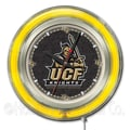Holland Bar Stool NCAA 15'' Double Neon Ring Logo Wall Clock; Central Florida
