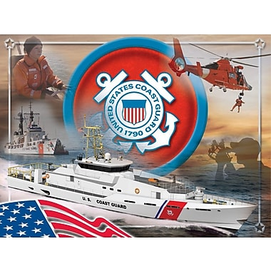 Holland Bar Stool US Armed Forces Graphic Art on Wrapped Canvas; Coast Guard