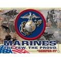 Holland Bar Stool US Armed Forces Graphic Art on Canvas; Marines