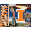 Holland Bar Stool NCAA Printed Canvas; Illinois