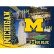 Holland Bar Stool NCAA Printed Canvas; Michigan