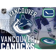 Holland Bar Stool NHL Graphic Art on Wrapped Canvas; Vancouver Canucks