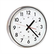 Peter Pepper 12'' Wall Clock; Aluminum Metallic