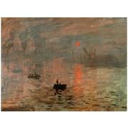 Oriental Furniture 'Impression Sunrise' by Monet Painting Print on Wrapped Canvas